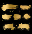 gold grunge background black texture on golden vector image vector image