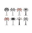 graphic palm tree icon logo set vector image vector image