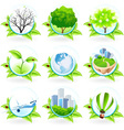 Green Icon Set vector image