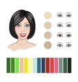 Hair color match vector image vector image