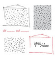 hand-drawn doodle check tick seamless pattern and vector image vector image