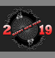 happy new year 2019 and car wheel vector image vector image