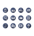 hospital blue flat icons set vector image vector image