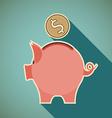 Icon piggy bank vector image
