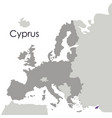 isolated cyprus map design vector image
