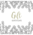 Lavender A template of the gift certificate for vector image vector image