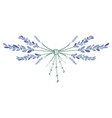 Lavender flower wreath ornament formed by small