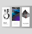 layout roll up banner stands vector image vector image
