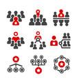 leadergrouporganization icon vector image vector image