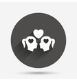 Lesbian couple sign icon Woman love woman vector image vector image