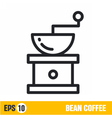 line icon coffee grinder vector image