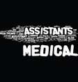 medical assistant careers on the rise text vector image vector image