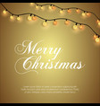 merry christmas glowing background vector image vector image