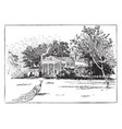 montpelier the home of james madison vintage vector image vector image