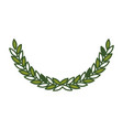 olive arch in green color vector image vector image