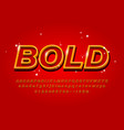 outline bold alphabet on abstract red backgraund vector image vector image
