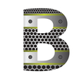 perforated metal letter B vector image vector image