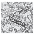 Pharmacy Technician A Great Career Opportunity vector image vector image