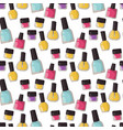 red nail polish bottle varnish enamel glamour vector image vector image
