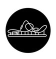 roller coaster black icon sign on isolated vector image vector image
