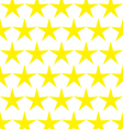 Seamless pattern of yellow stars vector image vector image