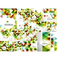 Set of Abstract Geometric Flyer Templates vector image vector image