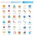 set trendy flat gradient wedding icons vector image vector image