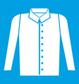 Shirt icon white vector image