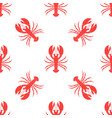 simple lobster pattern vector image vector image
