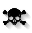 Skull and cross-bones vector image vector image