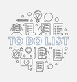to do list round made with vector image vector image