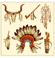Totem Native American set vector image
