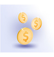 us dollar coin business online vector image vector image