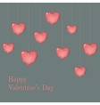 Valentine card template with wish vector image vector image