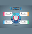 abstract paper hearts valentines day abstract 3d vector image