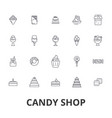 candy shop candy store sweet shop candy bar vector image