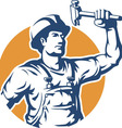 Construction Worker Silhouette vector image