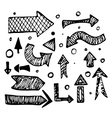 Isolated hand drawn arrows vector image