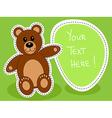 Teddy bear with blank sign vector image