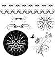 floral ornaments vector image