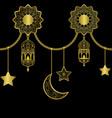 a arabic golden luxury horizon seamless border vector image