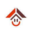 abstract home smile logo icon vector image