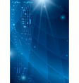 abstract vertical music background - blue flyer vector image vector image