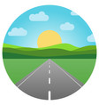asphalt road leaving into the horizon vector image