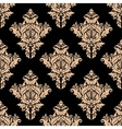 beige and black seamless floral pattern vector image vector image