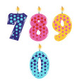 birthday candles isolated vector image vector image