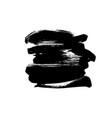 black paint ink brush stroke or shape vector image vector image