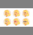 business woman avatar blonde woman face vector image vector image