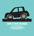 Car Stuck in Mud vector image vector image