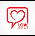 Chat for love concept stock vector image